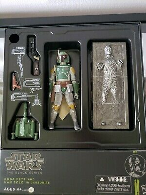 "Star Wars 6"" Black Series SDCC Exclusive Boba Fett and Han Solo in Carbonite"