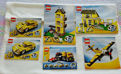6 Lego Creator Instruction Manual Booklets 4891 4939 1 4939 2 4996 2