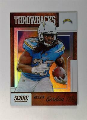 2019 Score Football Throwbacks #T-15 Melvin Gordon III - Los Angeles Chargers