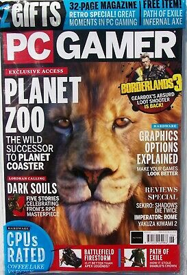 Pc Gamer Magazine Issue #331 - 2019 ~ New Sealed With Free Gifts ~