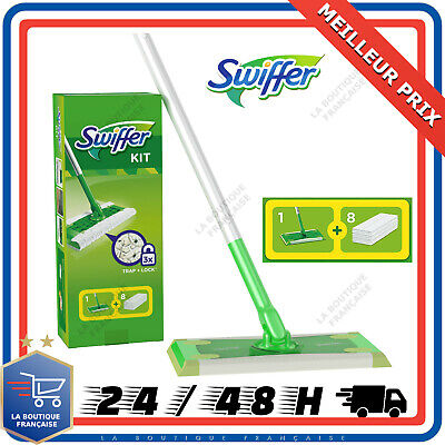 Kit Nettoyage Balai Swiffer Sweeper 8 Lingettes Sèches