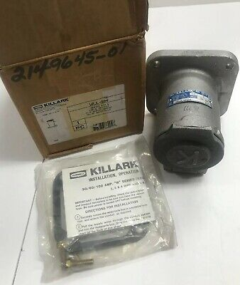 Killark WRJL-604 Pin and Sleeve Receptacle 60 Amps 600 Volt 3 Wire 4 Pole, New