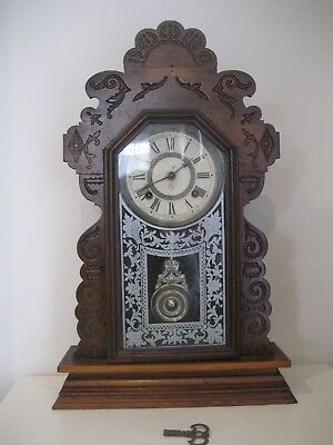 Antique Ansonia Late 1800s/Early 1900s Mechanical Striking Mantle Clock