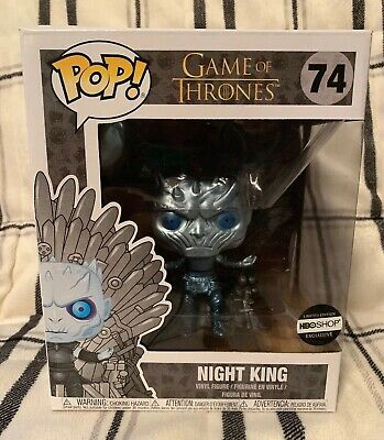 METALLIC NIGHT KING ON THRONE Funko Pop Game Of Thrones HBO Exclusive 74