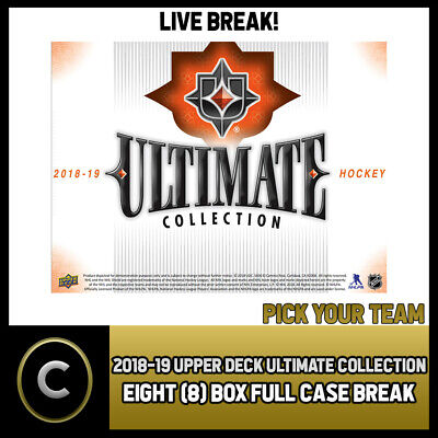 2018-19 Upper Deck Ultimate Collection 8 Box (Case) Break #H353 - Pick Your Team