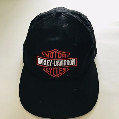 2bb2e184f5948 Harley Davidson MotorCycles Shield Black Ball Cap Hat Adjustable Snapback  Annco