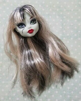 Monster High Doll Classroom Home Ick Frankie Stein Replacement Head Only Ooak