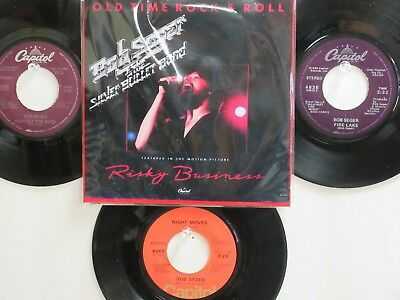 LOT OF 4 BOB SEGER HIT 45's+1P(Copy)[Old Time Rock & Roll]  70's&80's !