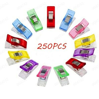 250/20/100/10pcs Colorful Sewing Craft Quilt Binding Plastic Clips Clamps Pack