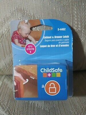 ChildSafe Cabinet & Drawer Latch 6 Pack S-4462 2013 PLPCI Childproofing Safety