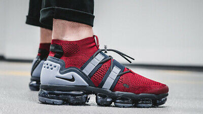 Nike Air VaporMax Flyknit Utility Red Obsidian Size 8.5. AH6834-600 max 95 97