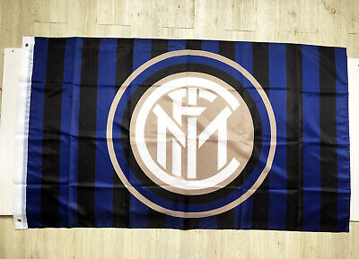 Inter Milan 3X5FT Blue Flag Banner Italy Soccer Calcio Milano 2Grommets/371