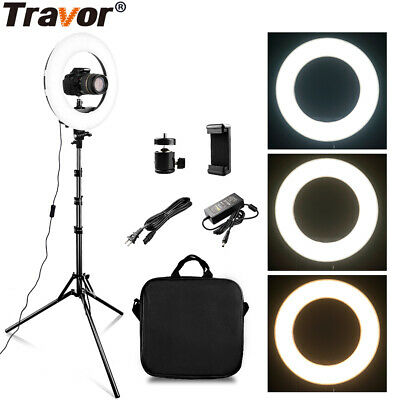 "12"" 336Pcs LED Ring Light Dimmable 5500K for SmartPhone/Camera with Light Stand"