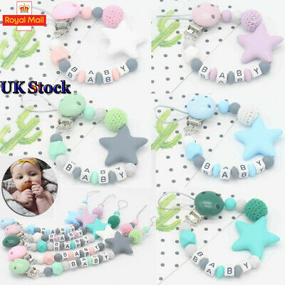 Pacifier Clips Pacifier Teething Baby Teether Chain Clip Bead Dummy Holders Gift