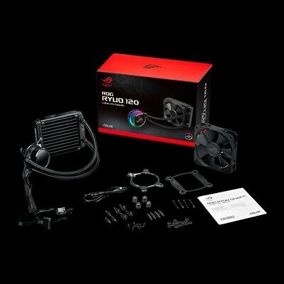 Asus ROG RYUO 120 all-in-one liquid CPU cooler with color OLED, Aura Sync RGB...