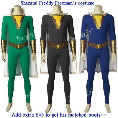 Superhero Freddy Freeman Costume Halloween Cosplay Comic Con Fancy Dress