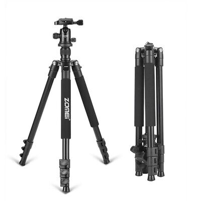 ZOMEI Q666 Portable Travel Tripod Monopod Ball Head for Canon Camera UK Seller