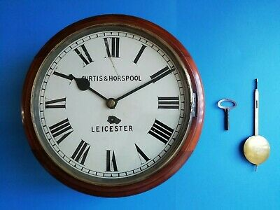 #007 Curtis & Horspool Of Leicester Mahogany Dial Clock With Fusee  8 Day Moveme