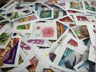 Bulk 2Kg Unsorted Decimal Stamps  Australia Used On Paper Will Add Extra Stamps