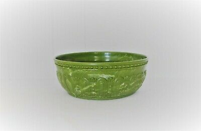 Vintage Green Marbled Art Deco Plastic Inarco Serving Bowl