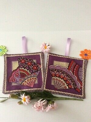Lavender Bags Sachets Lilac Oriental Fans Style Print Fabric  Decoration Gift