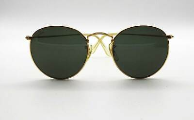 006f0f9837 RAY-BAN Sonnenbrille Classic Round Gold G-15 Bausch&Lomb USA Lennon Etui  1970er
