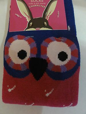 Joules baby girls Owl character bamboo socks 9-12 S/M fits 12-24 months