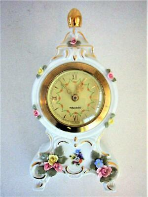 QUALITY VINTAGE PORCELAIN BALLOON MANTEL CLOCK - restored