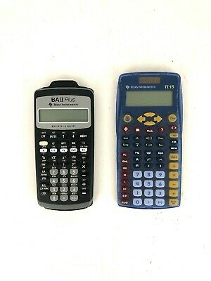 Texas Instruments BA II Plus Financial Calculator Advanced & TI-15 Scientific