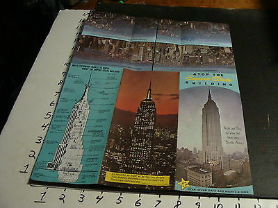 atop the EMPIRE STATE BUILDING brochure, 1960's