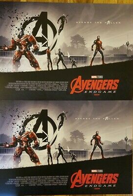 2 x Marvel Avengers Endgame ODEON Exclusive Poster Matt Ferguson,Part 2