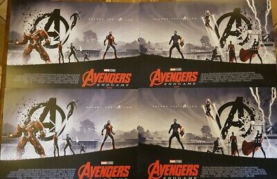 4 x Marvel Avengers Endgame ODEON Exclusive Posters Matt Ferguson,2x Parts 1 & 2