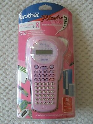 Brother P-Touch 1000 Labelling Machine Limited Edition Pink Breast Cancer Editio