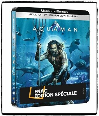 Aquaman 2018 Blu-ray 2D + 3D + 4K UHD + CD Steelbook Ultimate Limited Edition