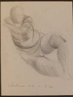 Circa 1982 'RESTING'_Chelsea, Vintage Drawing Study Painting