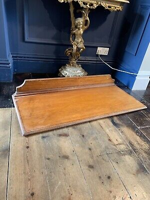 Large 19th Century Victorian Two Plank Mahogany Breakfast Table Top Side Board