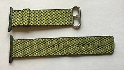 Genuine Apple Watch Strap Woven Nylon 42Mm/ 44Mm Olive Check