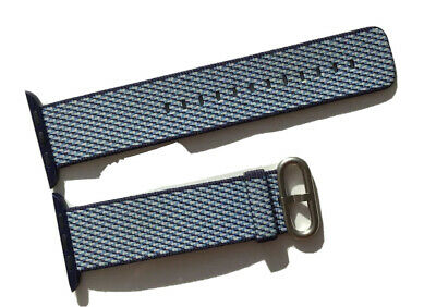 Genuine Apple Watch Strap Woven Nylon Band 42Mm/ 44Mm Midnight Blue Check