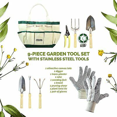 GardenHome Deluxe 9 Pcs Garden Set FREE ACCESSORIES