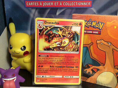 Carte Pokemon Dracaufeu 14/181 Neuve  Rare Soleil Lune Duo de Choc SL9 Team Up