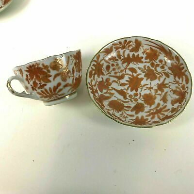 Rare Chinese 19th / 18th Century Iron Red Tea Cups and Saucers #18