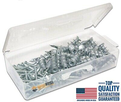 Qualihome Zinc / Metal Self Drilling Drywall Wall Anchors with Screws Kit