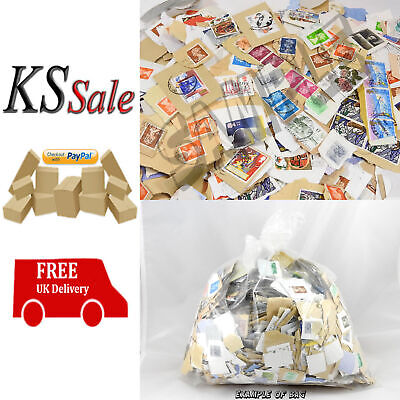1.5KG (1500G) Used Mixed Kiloware GB / UK (1kg+) Franked Stamps