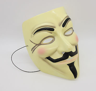 V For Vendetta Máscara Guy Fawkes Anonymous Sit-In Cosplay Traje Anarquía