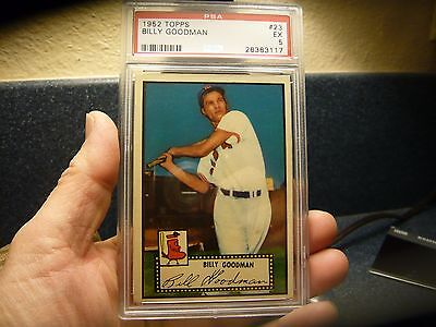 1952 Topps Billy Goodman #23 PSA 5 EXCELLENT CENTERED Boston Red Sox