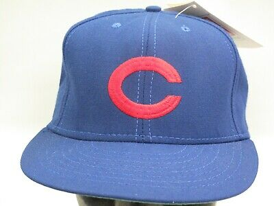 771b6fe4c0458 Chicago Cubs Vintage Fitted Cap Size 7 1 4 American Needle 1938 Made in USA