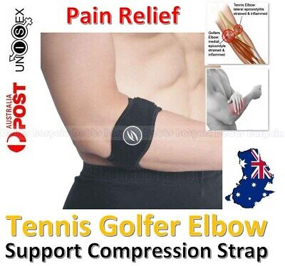 Tennis Golfers Elbow Support Brace Strap Band Forearm Protection Pain Relief