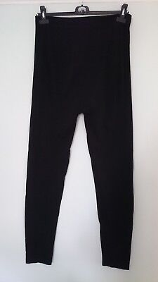 Black New Look Maternity Footless Tights size L Over Bump