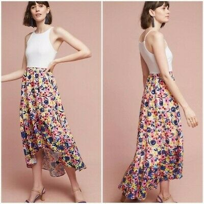 f7731a48f364 New Anthropologie Bethanie High-Low Dress By Hutch Floral Print $168 SMALL  4/6