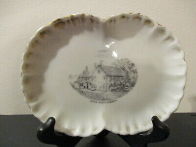 Circa 1910 Souvenir Tray Coffin House Newbury Newburyport Massachusetts *